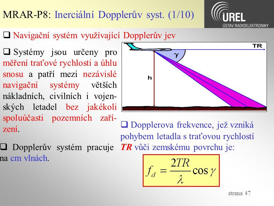 MRAR-P8: Inerciální Dopplerův syst. (1/10)