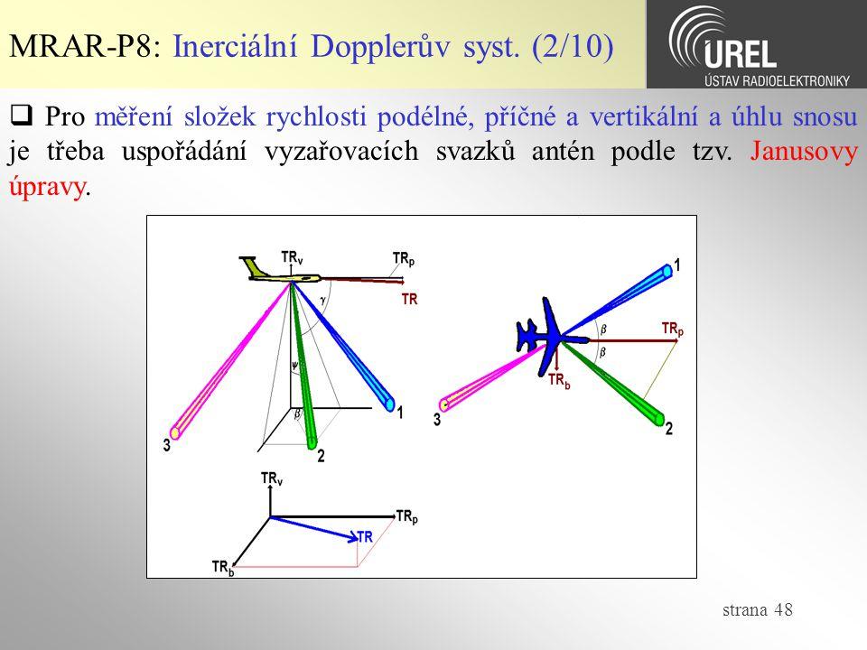 MRAR-P8: Inerciální Dopplerův syst. (2/10)