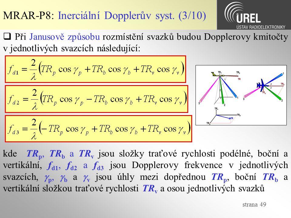 MRAR-P8: Inerciální Dopplerův syst. (3/10)