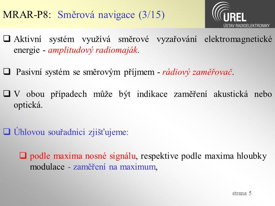 MRAR-P8: Směrová navigace (3/15)
