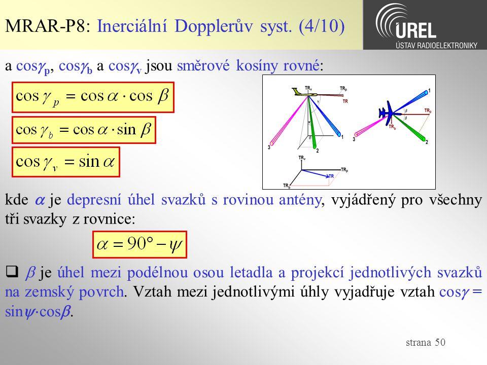 MRAR-P8: Inerciální Dopplerův syst. (4/10)