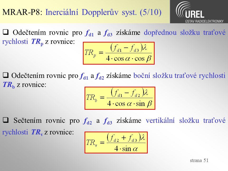 MRAR-P8: Inerciální Dopplerův syst. (5/10)