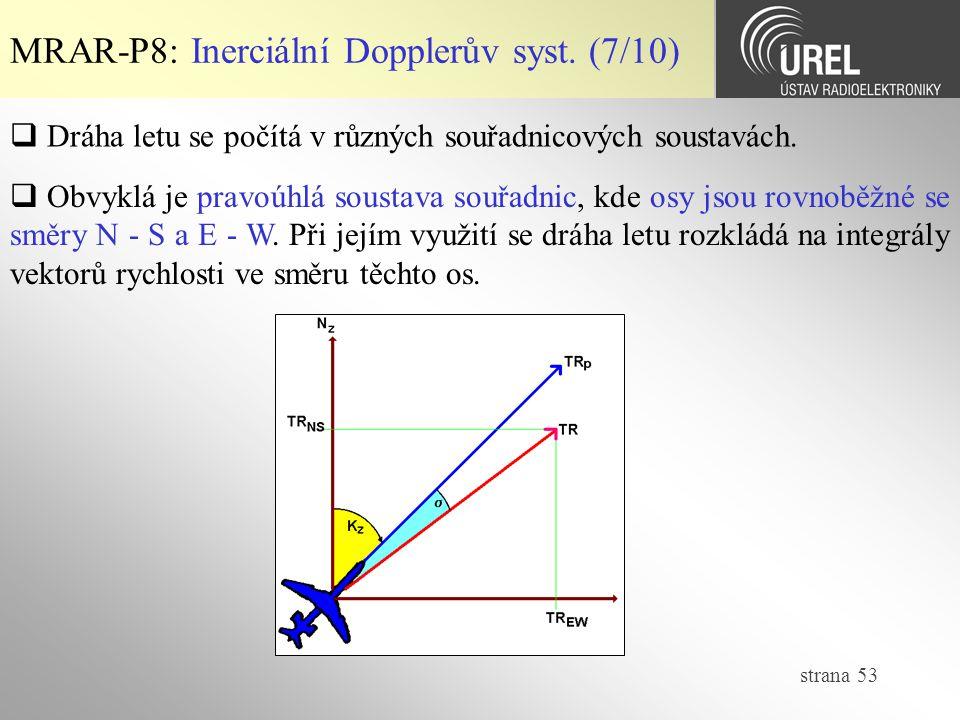 MRAR-P8: Inerciální Dopplerův syst. (7/10)