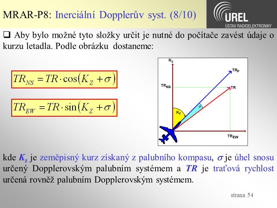 MRAR-P8: Inerciální Dopplerův syst. (8/10)