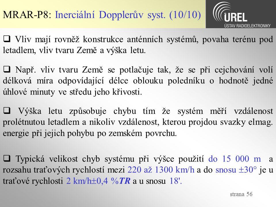 MRAR-P8: Inerciální Dopplerův syst. (10/10)