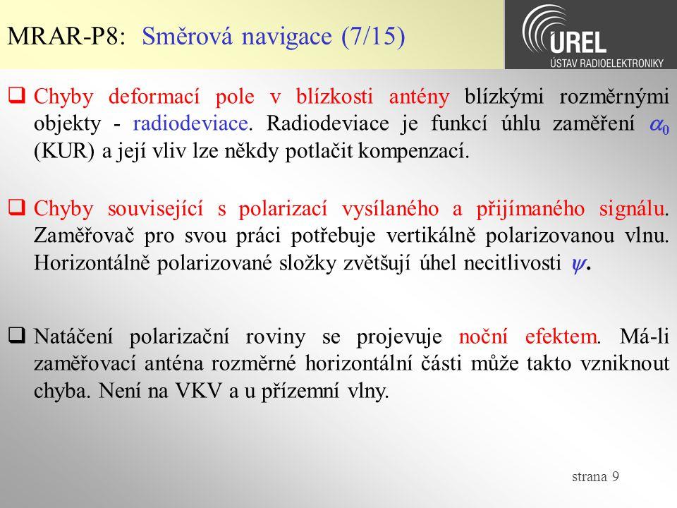 MRAR-P8: Směrová navigace (7/15)