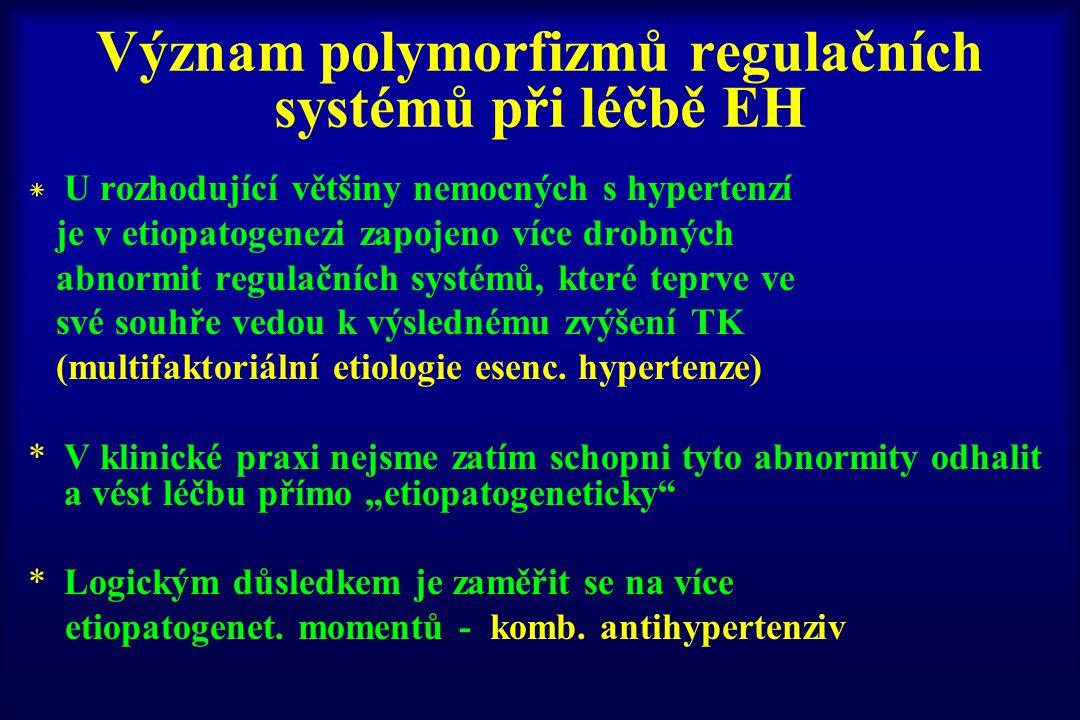 Význam polymorfizmů regulačních systémů při léčbě EH