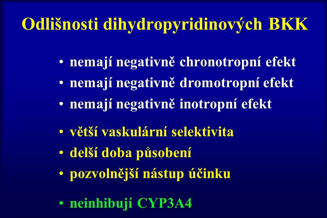 Odlišnosti dihydropyridinových BKK