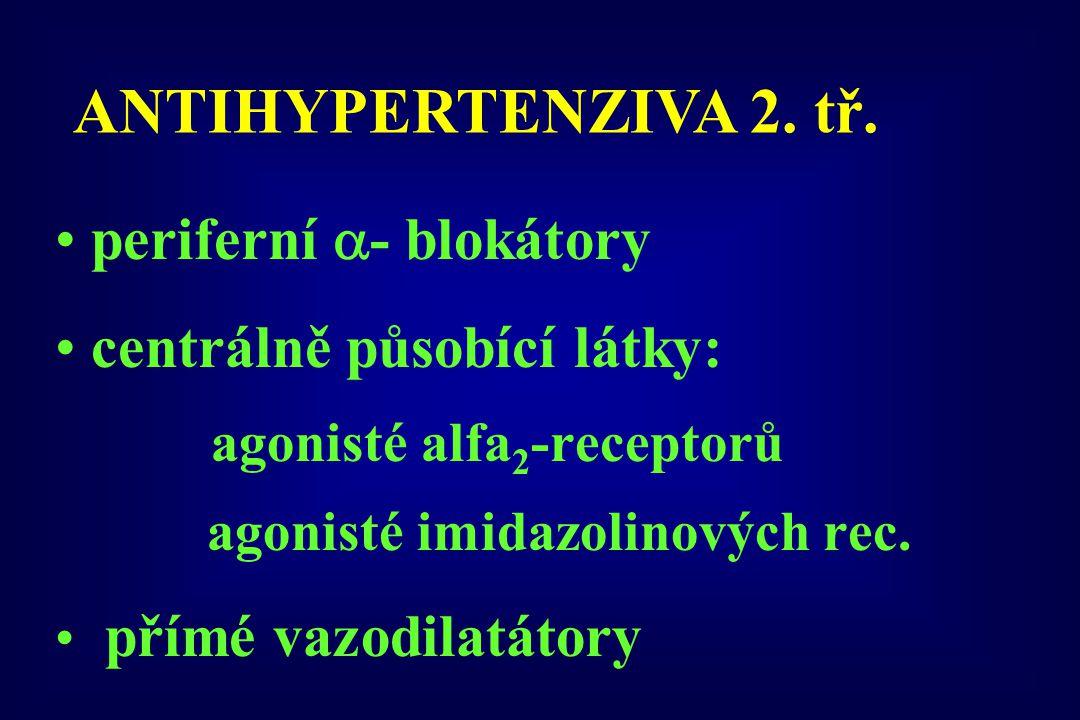 ANTIHYPERTENZIVA 2. tř. periferní - blokátory