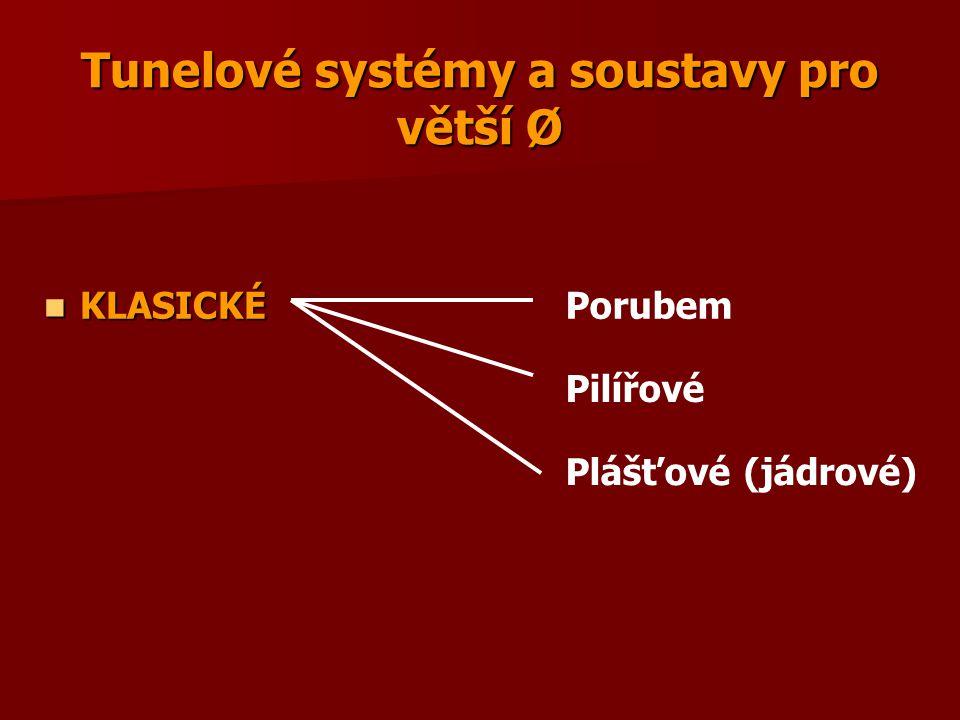 Tunelové systémy a soustavy pro větší Ø