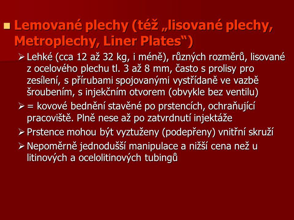 """Lemované plechy (též """"lisované plechy, Metroplechy, Liner Plates )"""