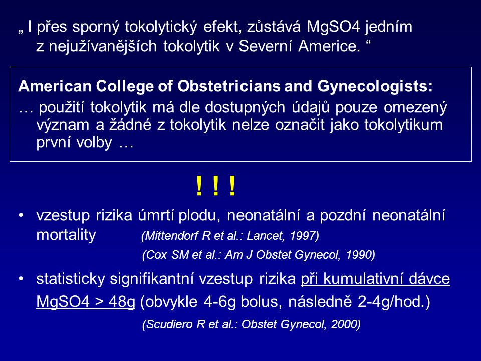 American College of Obstetricians and Gynecologists:
