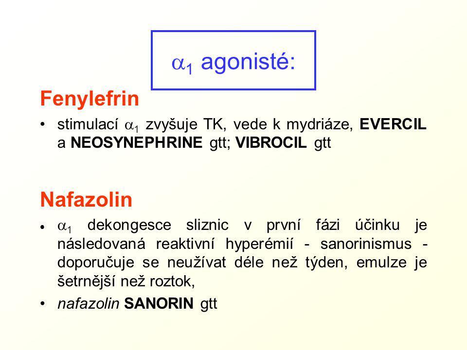 a1 agonisté: Fenylefrin Nafazolin