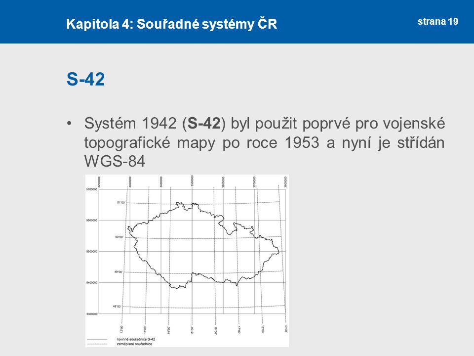 Kapitola 4: Souřadné systémy ČR