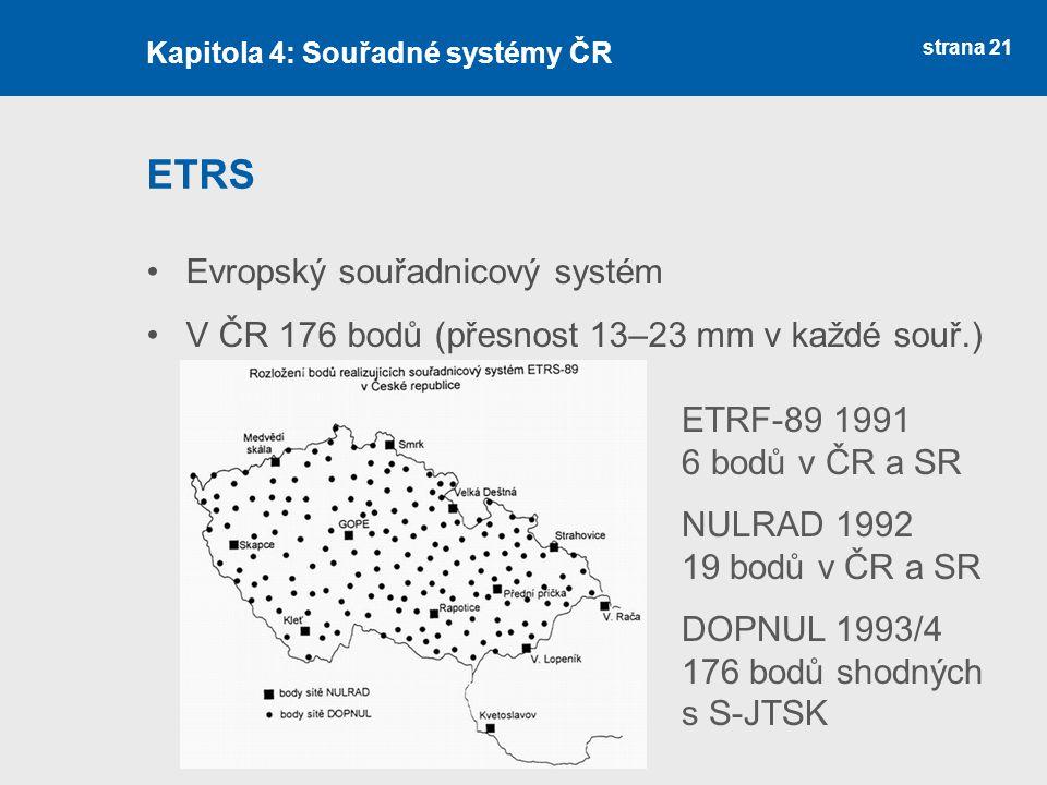 ETRS Evropský souřadnicový systém