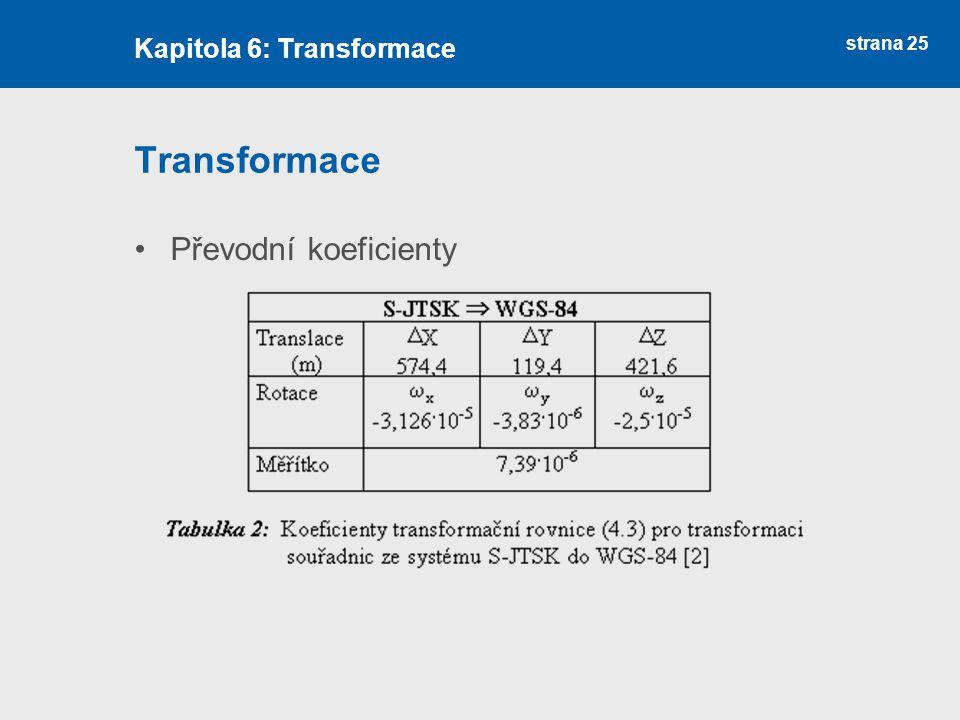 Kapitola 6: Transformace