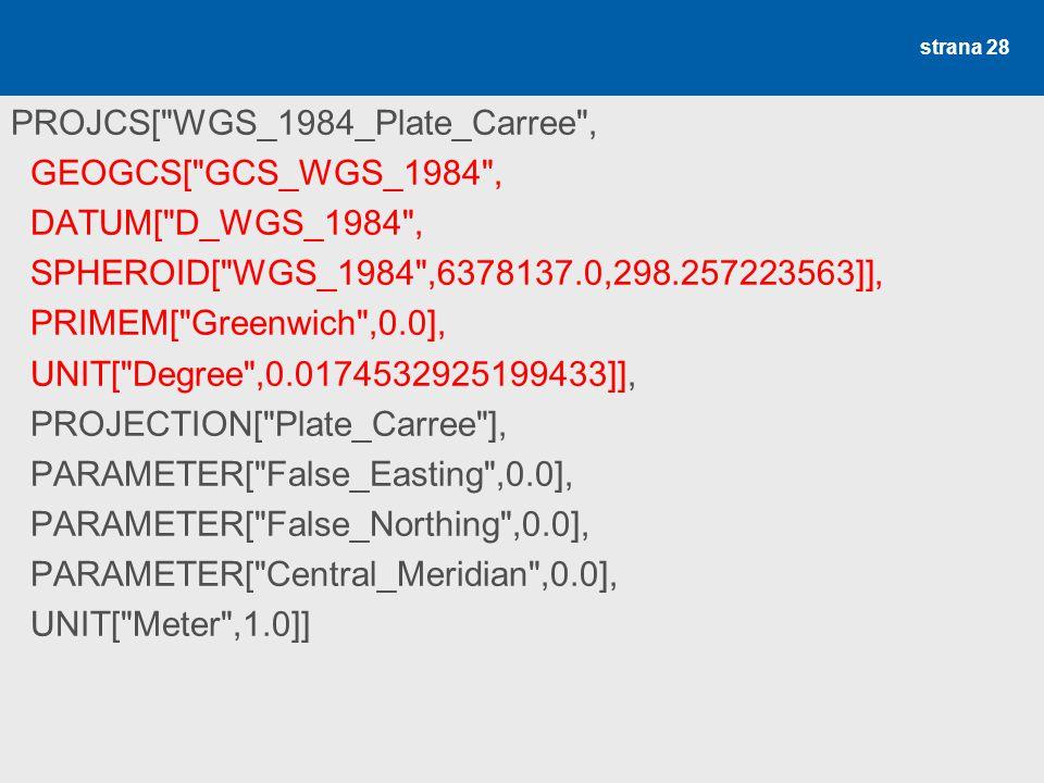 WGS 1984, plate carre (ESRI .prj)