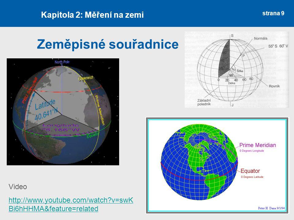 Zeměpisné souřadnice Kapitola 2: Měření na zemi Video