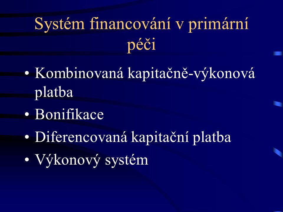 Systém financování v primární péči