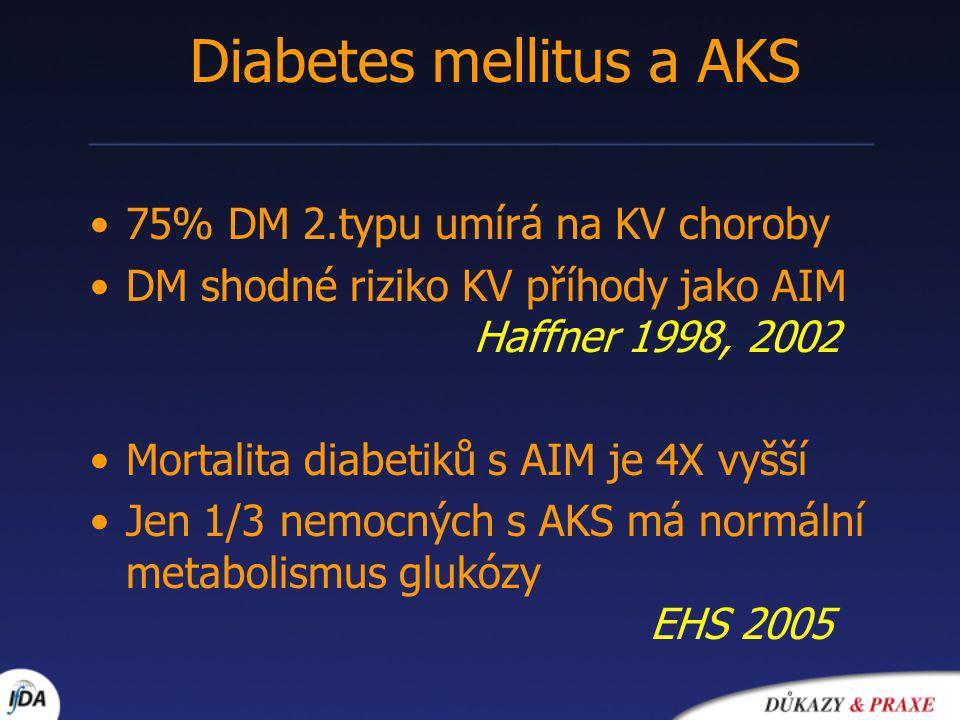 Diabetes mellitus a AKS