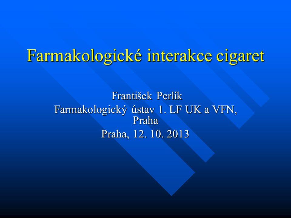Farmakologické interakce cigaret