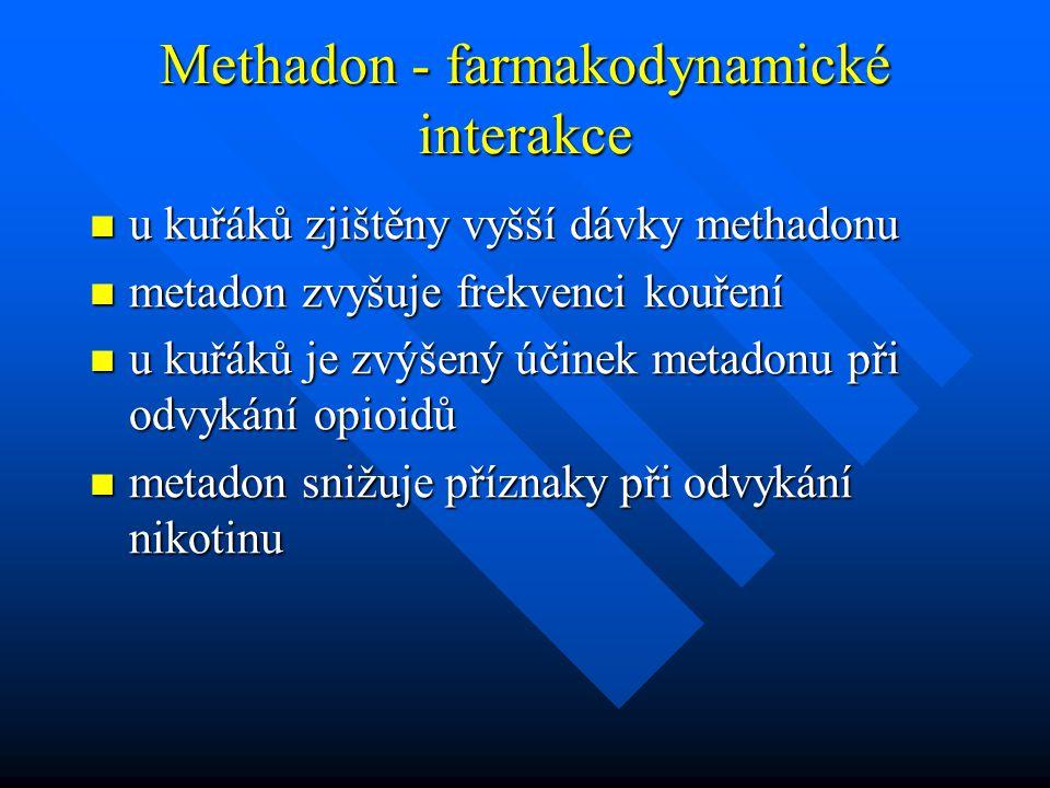 Methadon - farmakodynamické interakce