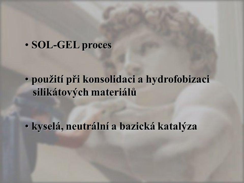 SOL-GEL proces použití při konsolidaci a hydrofobizaci silikátových materiálů.