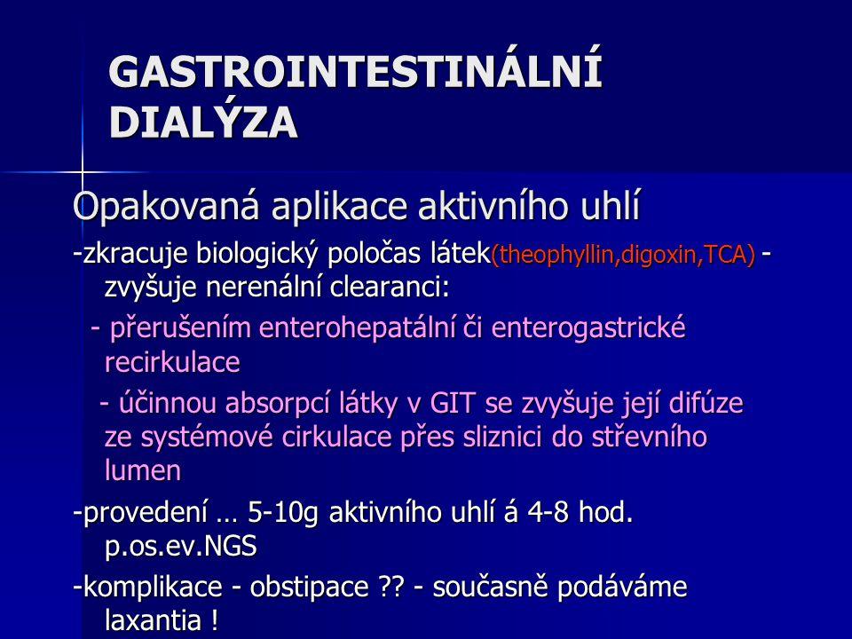 GASTROINTESTINÁLNÍ DIALÝZA