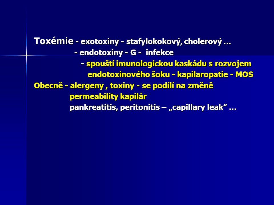 Toxémie - exotoxiny - stafylokokový, cholerový …