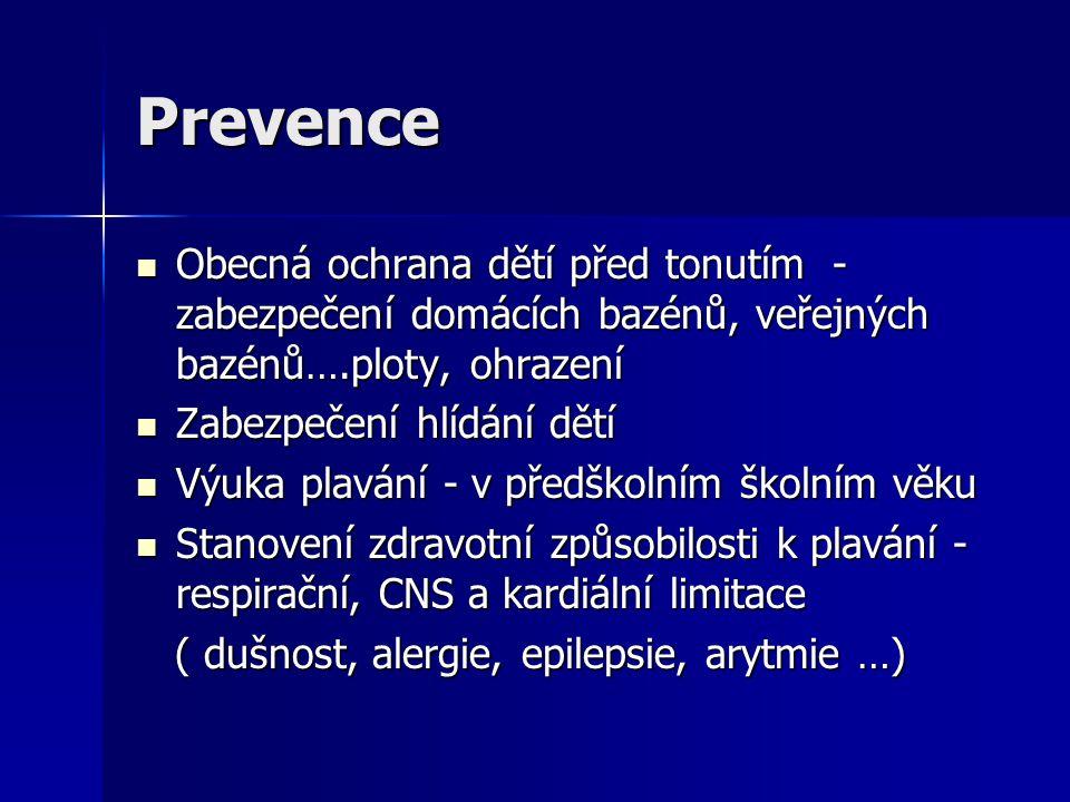Prevence Obecná ochrana dětí před tonutím - zabezpečení domácích bazénů, veřejných bazénů….ploty, ohrazení.