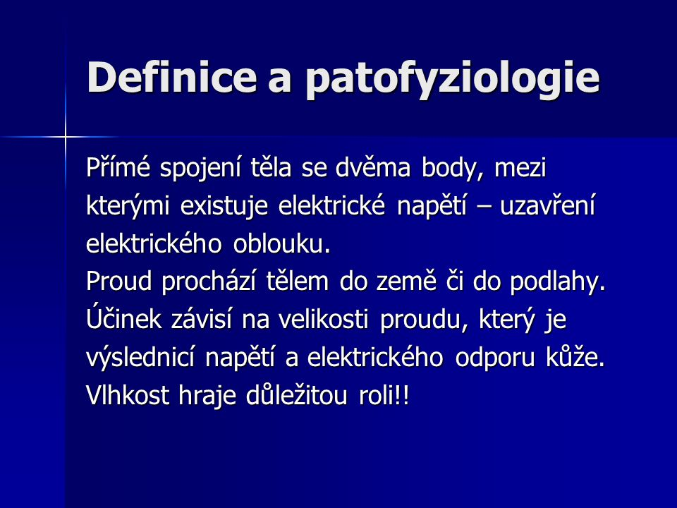 Definice a patofyziologie
