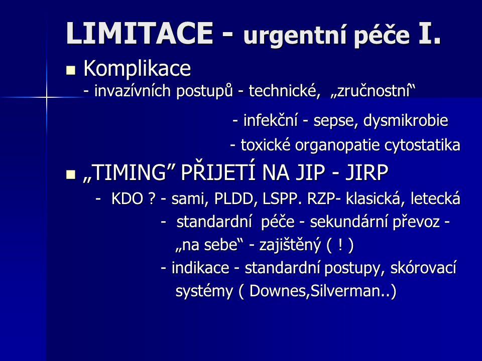 LIMITACE - urgentní péče I.