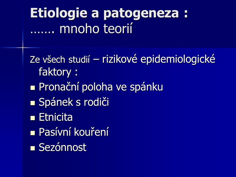 Etiologie a patogeneza : ……. mnoho teorií