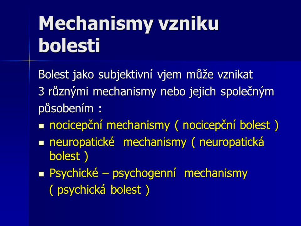 Mechanismy vzniku bolesti