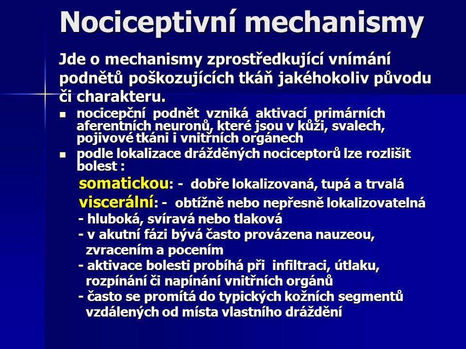 Nociceptivní mechanismy