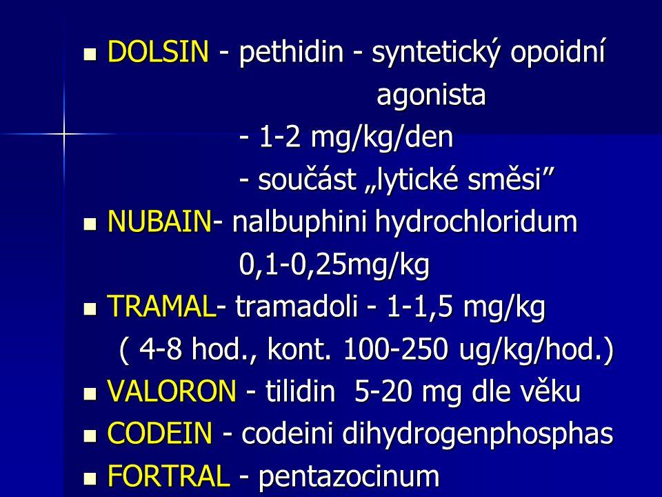 DOLSIN - pethidin - syntetický opoidní