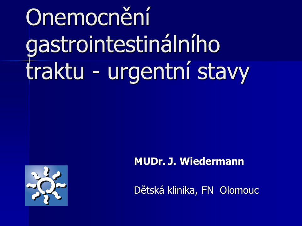 Onemocnění gastrointestinálního traktu - urgentní stavy