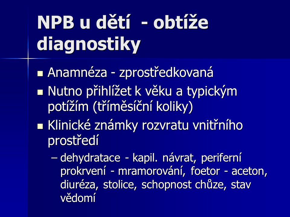 NPB u dětí - obtíže diagnostiky