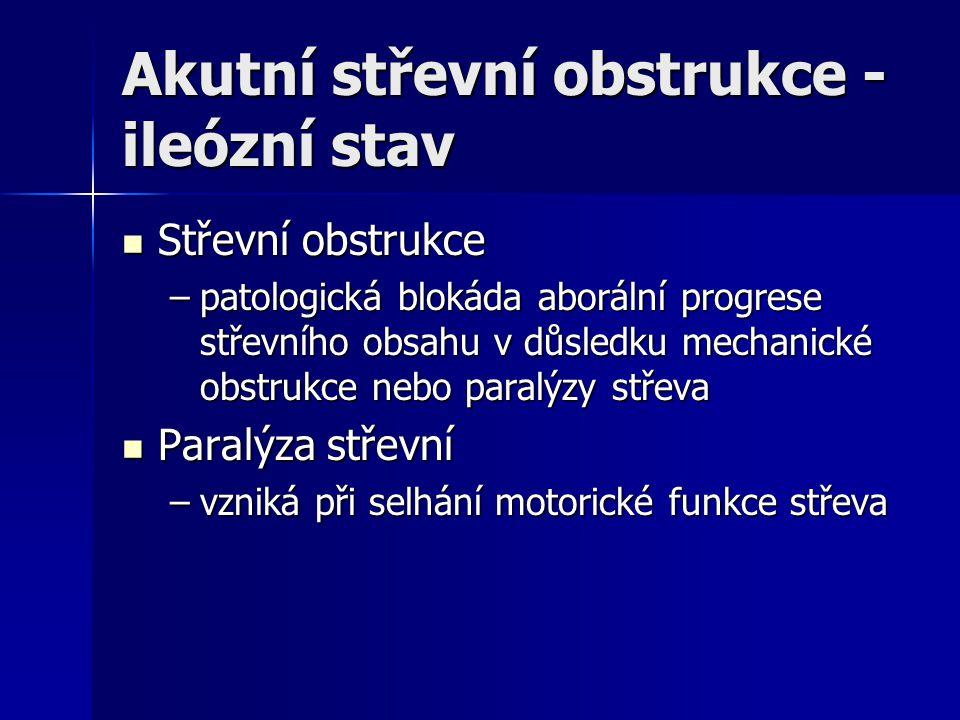 Akutní střevní obstrukce - ileózní stav