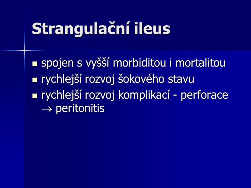 Strangulační ileus spojen s vyšší morbiditou i mortalitou