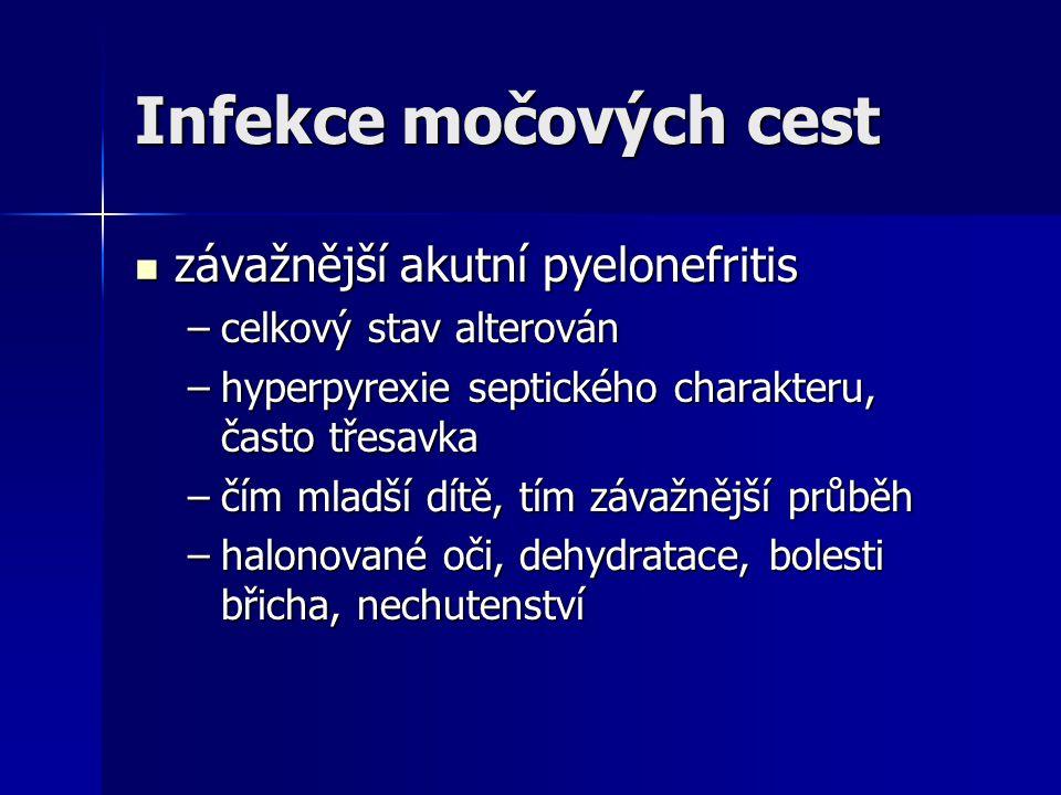 Infekce močových cest závažnější akutní pyelonefritis