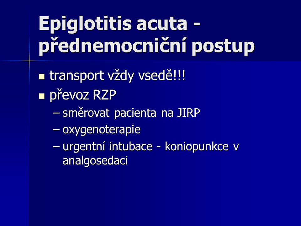 Epiglotitis acuta - přednemocniční postup