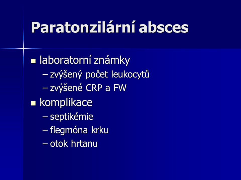 Paratonzilární absces