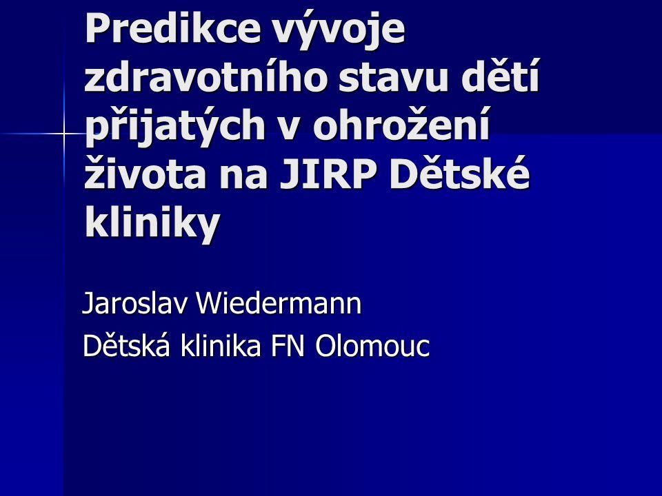 Jaroslav Wiedermann Dětská klinika FN Olomouc