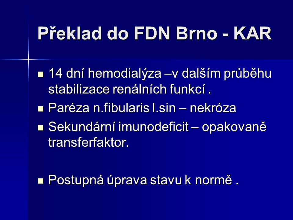 Překlad do FDN Brno - KAR