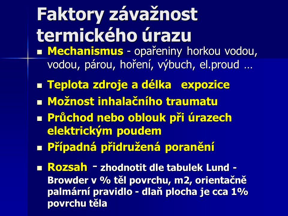 Faktory závažnost termického úrazu