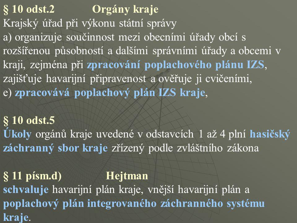 § 10 odst.2 Orgány kraje Krajský úřad při výkonu státní správy.