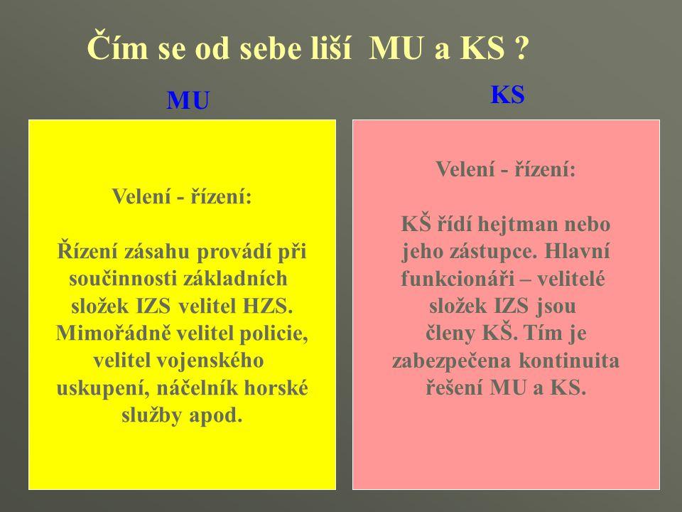 Čím se od sebe liší MU a KS