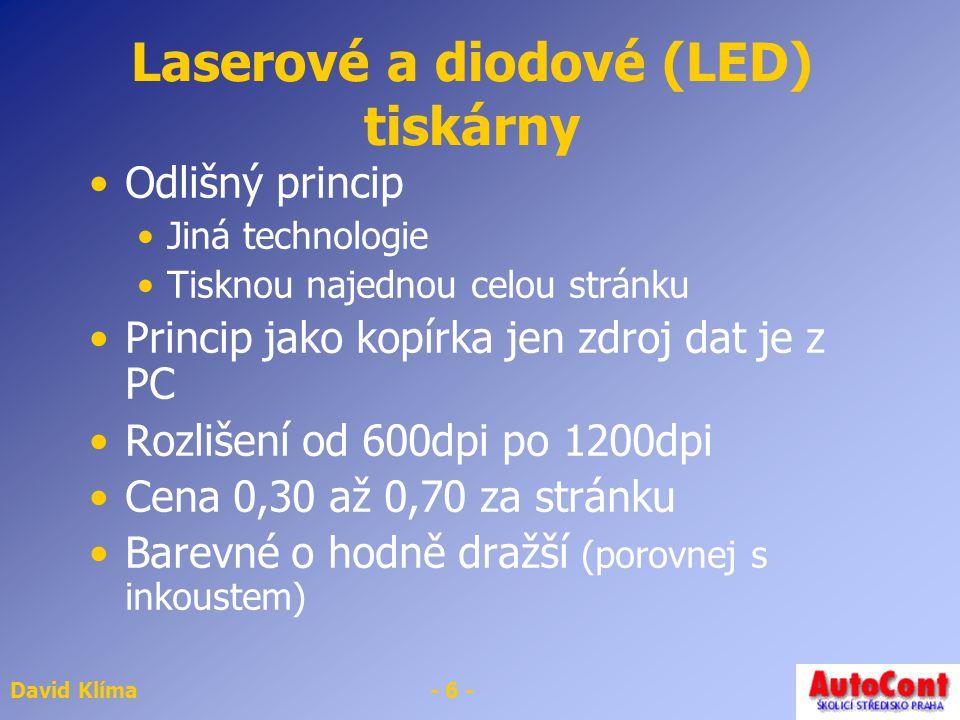 Laserové a diodové (LED) tiskárny