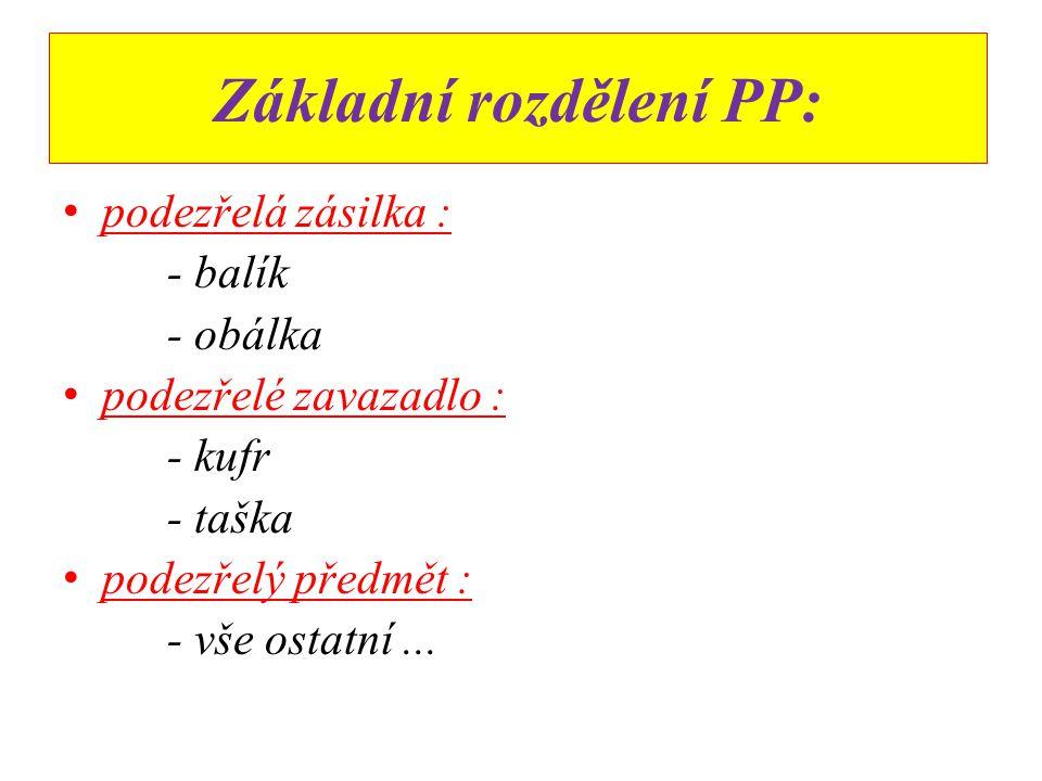 Základní rozdělení PP: